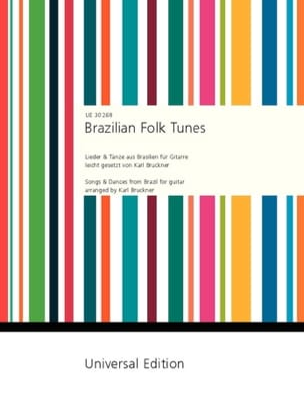 Brazilian Folk Tunes Karl Bruckner Partition Guitare - laflutedepan