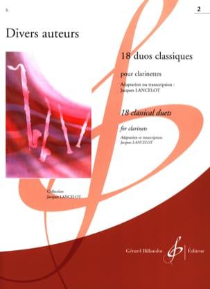 18 Duos Classiques Volume 2 Partition Clarinette - laflutedepan