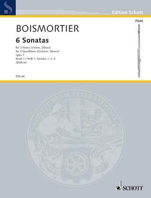 6 Sonaten op. 7 Bd. 1 - 3 Flöten BOISMORTIER Partition laflutedepan