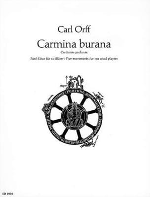 Carmina Burana - Bläser ORFF Partition Grand format - laflutedepan