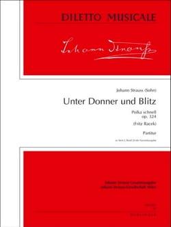 Unter Donner und Blitz op. 324 - Partitur - laflutedepan.com