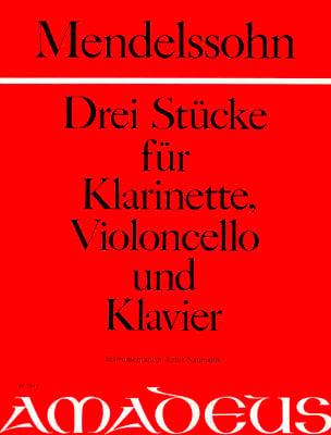 3 Stücke - Klarinette Violoncello Klavier MENDELSSOHN laflutedepan