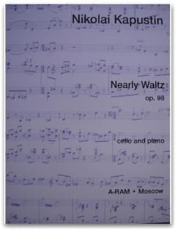Nearly Waltz op. 98 Nikolai Kapustin Partition laflutedepan