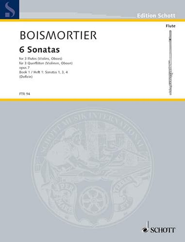 6 Sonaten op. 7 Bd. 1 - 3 Flöten - BOISMORTIER - laflutedepan.com