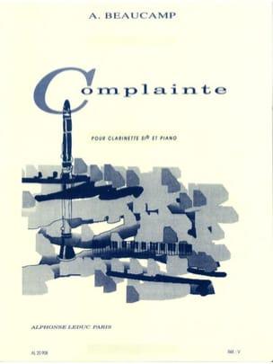 Complainte Albert Beaucamp Partition Clarinette - laflutedepan