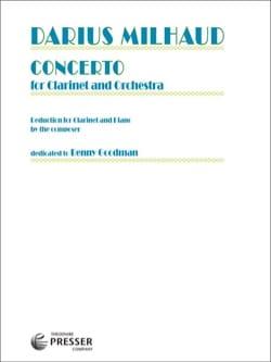 Concerto pour Clarinette et Orchestre MILHAUD Partition laflutedepan