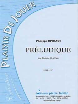 Préludique Philippe Oprandi Partition Clarinette - laflutedepan