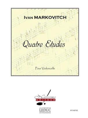 4 Etudes Ivan Markovitch Partition Violoncelle - laflutedepan