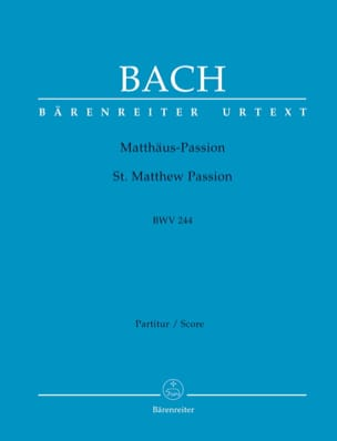 Passion selon St-Matthieu Johann Sebastian Bach Partition laflutedepan