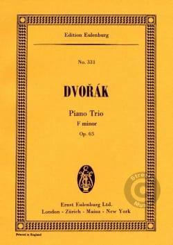 Klavier-Trio F-Moll, Op. 65 DVORAK Partition laflutedepan