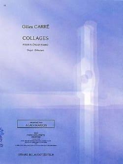 Collages Gilles Carré Partition Flûte traversière - laflutedepan