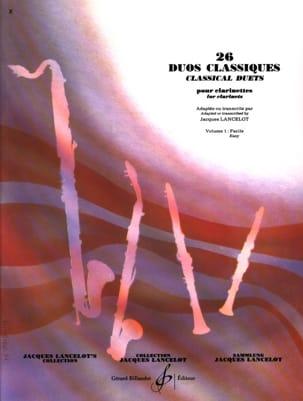 26 Duos Classiques Volume 1 Partition Clarinette - laflutedepan