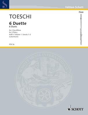 6 Duette Heft 1 - 2 Flöten Carl Joseph Toeschi Partition laflutedepan
