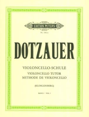 Méthode de violoncelle - Volume 1 Friedrich Dotzauer laflutedepan