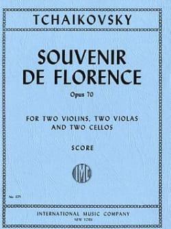 Souvenir de Florence op. 70 - Score TCHAIKOVSKY Partition laflutedepan