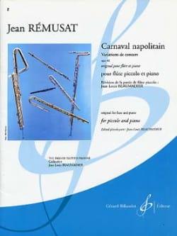 Carnaval napolitain op. 40 Jean Rémusat Partition laflutedepan