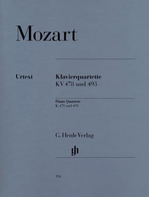 Quatuors avec piano K. 478 et 493 MOZART Partition laflutedepan