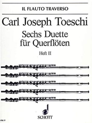 6 Duette Heft 2 - 2 Flöten Carl Joseph Toeschi Partition laflutedepan