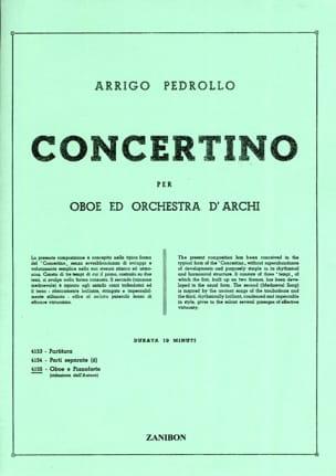 Concertino - Hautbois et Piano Réduction Arrigo Pedrollo laflutedepan