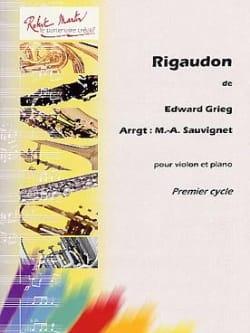 Rigaudon GRIEG Partition Violon - laflutedepan
