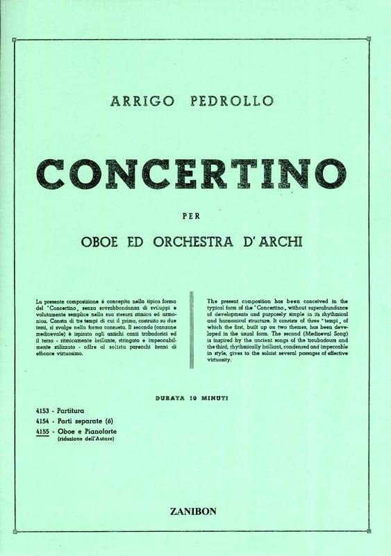 Concertino - Hautbois et Piano Réduction - laflutedepan.com