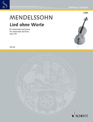 MENDELSSOHN - Lied ohne Worte op.109 - Partition - di-arezzo.es