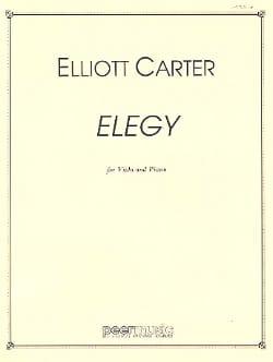 Elegy - Viola piano Elliott Carter Partition Alto - laflutedepan