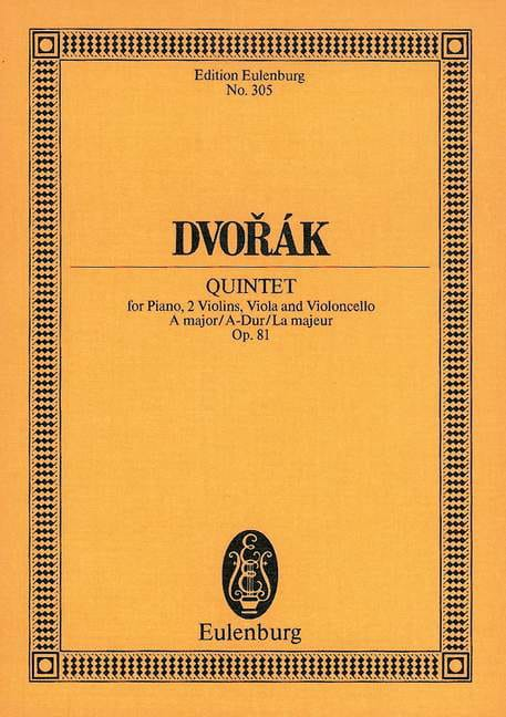 Quintett A-Dur, op. 81 B 155 - DVORAK - Partition - laflutedepan.com