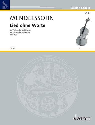 Lied ohne Worte op.109 - MENDELSSOHN - Partition - laflutedepan.com