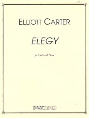 Elegy - Viola piano - Elliott Carter - Partition - laflutedepan.com