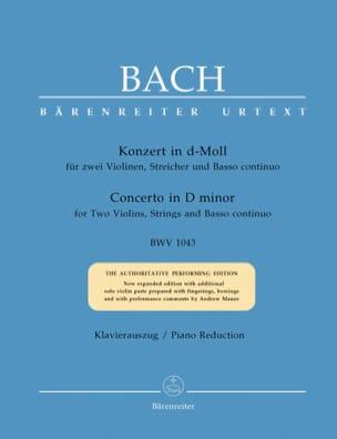 Concerto en Ré Mineur BWV 1043 BACH Partition Trios - laflutedepan