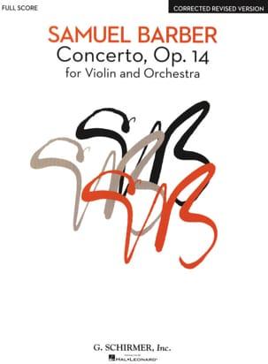 Samuel Barber - Concierto para violín y orquesta Op. 14 - Partition - di-arezzo.es