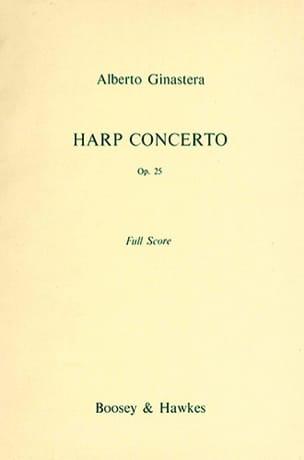 Concerto Pour Harpe Op. 25 - Score GINASTERA Partition laflutedepan