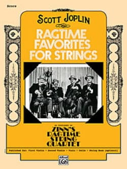 Ragtime Favorites for Strings JOPLIN Partition Quatuors - laflutedepan