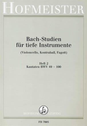 Bach-Studien Kantaten BACH Partition Violoncelle - laflutedepan