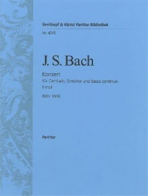 Cembalo-Konzert f-moll BWV 1056 - Conducteur - BACH - laflutedepan.com