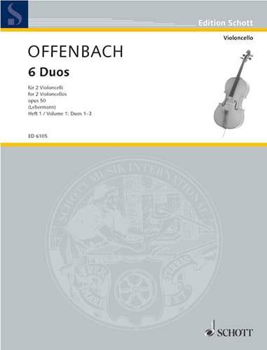 6 Duos Op. 50 Heft 1 1-3 - OFFENBACH - Partition - laflutedepan.com