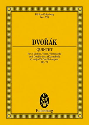 Quintett G-Dur, Op. 77 - Conducteur DVORAK Partition laflutedepan