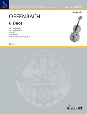 6 Duos op. 50, Heft 2 4-6 OFFENBACH Partition laflutedepan