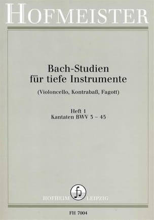 Bach Studien Kantaten BACH Partition Violoncelle - laflutedepan