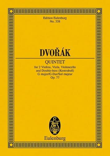 Quintett G-Dur, Op. 77 - Conducteur - DVORAK - laflutedepan.com