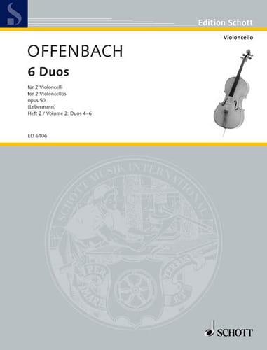 6 Duos op. 50, Heft 2 4-6 - OFFENBACH - Partition - laflutedepan.com