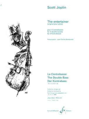 The Entertainer - 4 Contrebasses JOPLIN Partition laflutedepan