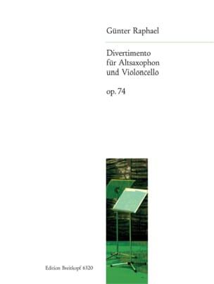 Divertimento, Op. 74 - Sax. Alto et Vcelle Günter Raphael laflutedepan