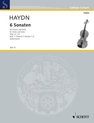 6 Sonaten Hob. 6 - Heft 1 : n° 1-3 HAYDN Partition 0 - laflutedepan
