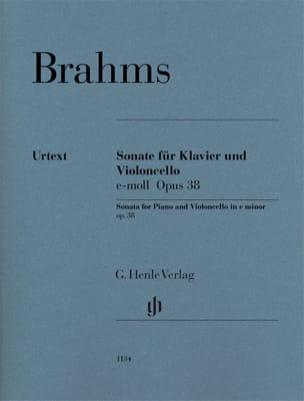 Sonate en mi mineur, op. 38 - Violoncelle et piano BRAHMS laflutedepan