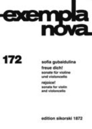 Freue dich ! - Sofia Gubaidulina - Partition - 0 - laflutedepan.com