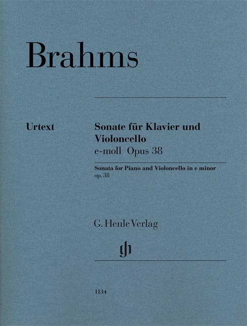 Sonate en mi mineur, op. 38 - Violoncelle et piano - laflutedepan.com