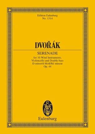 Serenade D-Moll, Opus 44 B 77 DVORAK Partition laflutedepan