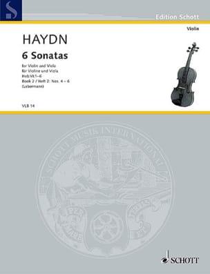 6 Sonatas Hob. 6 - Heft 2 : n° 4-6 HAYDN Partition 0 - laflutedepan